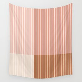 Color Block Line Abstract XVI Wall Tapestry