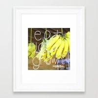 eat Framed Art Prints featuring eat by kyox art hawaii