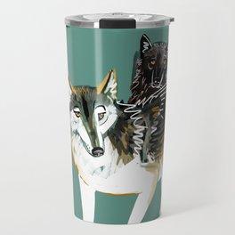 Northwestern wolf Travel Mug