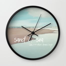 sand and sea Wall Clock