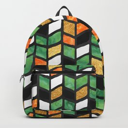 Herringbone Golden Jade Backpack