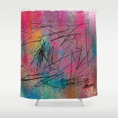 Facing Randomness. Shower Curtain