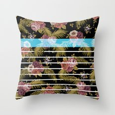 BOTANICAL STRIPES D01 Throw Pillow
