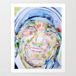 MOTHER TERESA - watercolor portrait Art Print