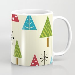 Mid Century Modern Christmas Trees Coffee Mug