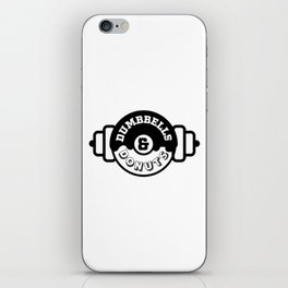 Dumbbells and Donuts iPhone Skin
