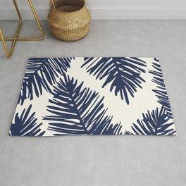 Tropical blue palms Rug