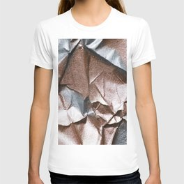 Rose Gold and Silver Abstract T-shirt