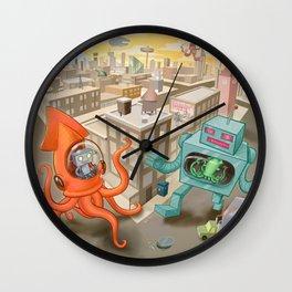 Squid vs Robot Wall Clock