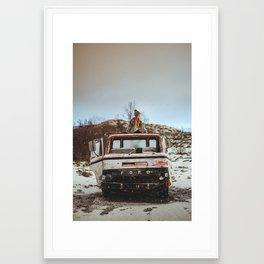 Sophies truck Framed Art Print