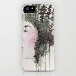 """""""Sometimes, even the snow is sad."""" iPhone Case"""
