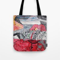 ariel Tote Bags featuring ARIEL by Brandon Neher