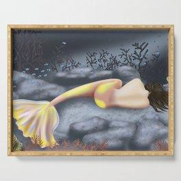 Sleeping Mermaid Serving Tray
