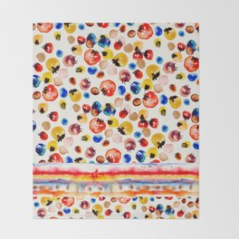Abstract Bubbles Throw Blanket