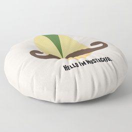 Hello I'm Mustachio Floor Pillow
