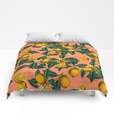 Lemon and Leaf Comforters