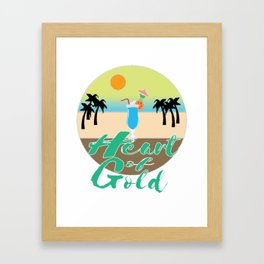 A Great & peaceful mind with a very kind Heart for a valued goodness expression allude Heart of gold Framed Art Print