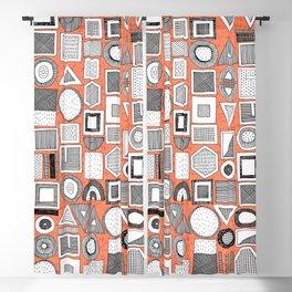 frisson memphis bw orange Blackout Curtain