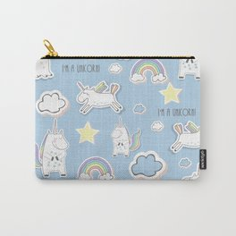 I'm a Unicorn - blue Carry-All Pouch