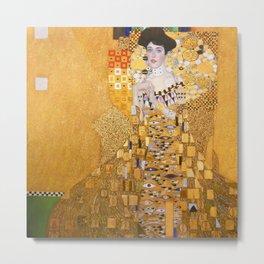 Gustav Klimt - Portrait of Adelle Bloch Bauer Metal Print