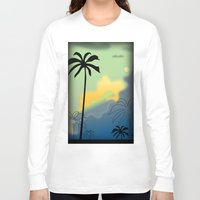 palm trees Long Sleeve T-shirts featuring Palm trees by Winking Lion