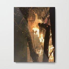 Natural fire Metal Print