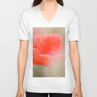 poetry V-neck T-shirts featuring Poppies poetry by Kathleen Schulze