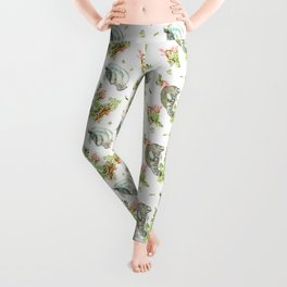 Manatee and Coral  Leggings