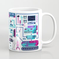 robots Mugs featuring Robots by Gabriela Zurda