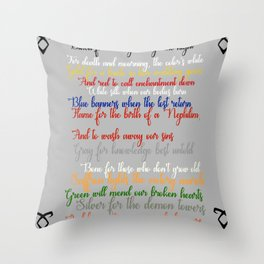 Shadowhunter rhymes Throw Pillow