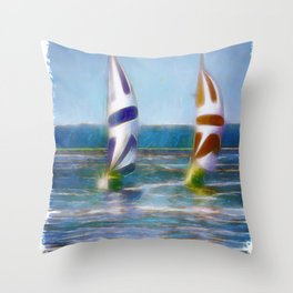 The Wind In Your Sails Throw Pillow
