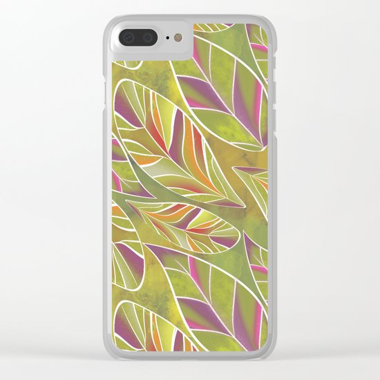 Leaves. Clear iPhone Case