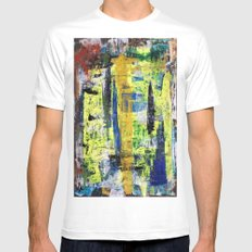RICHTER SCALE 3 MEDIUM White Mens Fitted Tee