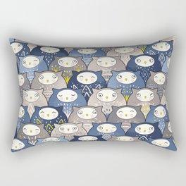 Find a cat in a parliament of owls (Art Deco Kawaii) Rectangular Pillow