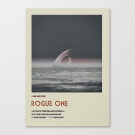 Rogue One Retro Poster III Canvas Print