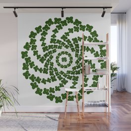 Lucky mandala-real four-leaf clovers Wall Mural