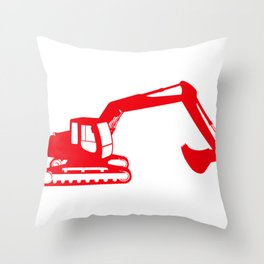 Construction red Throw Pillow