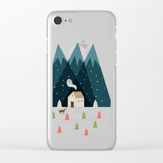 Winterworm Clear iPhone Case