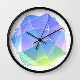 polyhedra - blue Wall Clock