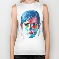 emma watson Biker Tanks featuring Emma Watson by Stella Joy