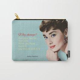 Movie star art - Audrey Hepburn Carry-All Pouch