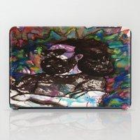 grateful dead iPad Cases featuring Jerry Garcia Watercolor Portrait Grateful Dead by Acorn