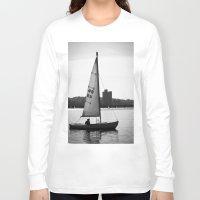 sailboat Long Sleeve T-shirts featuring Sailboat by Jill Deering