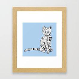 Keeping Tabbs Framed Art Print