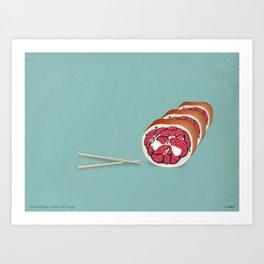 Gross (anatomy) Sushi Art Print