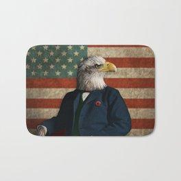 Official Portrait of Senator Silas Eagle Bath Mat