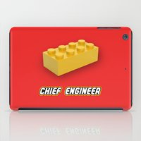 engineer iPad Cases featuring Chief Engineer by not empty