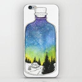Bottled Summer: Corked Bottle Camping iPhone Skin