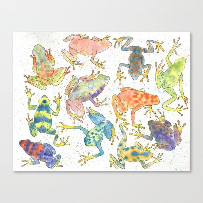 Frogs Leinwanddruck