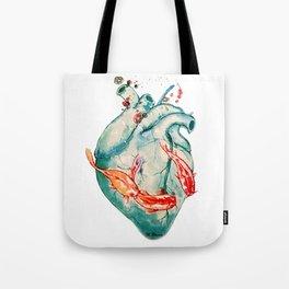 Koi heart Tote Bag